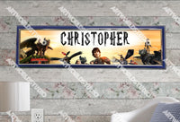 Personalized/Customized How To Train Your Dragon 2 Movie Poster, Border Mat and Frame Options Banner 182