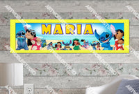 Personalized/Customized Lilo and Stitch Poster, Border Mat and Frame Options Banner 185