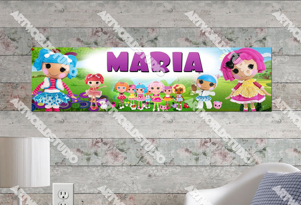 Personalized/Customized Lalaloopsy Poster, Border Mat and Frame Options Banner 190