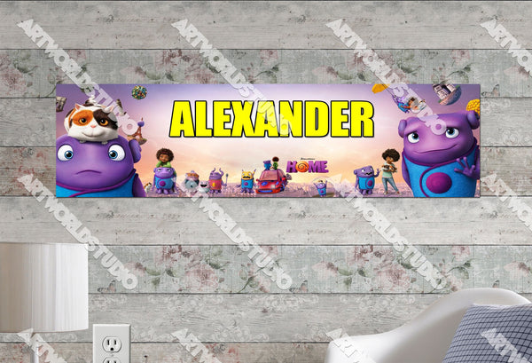 Personalized/Customized Dreamworks Home Movie Poster, Border Mat and Frame Options Banner 196