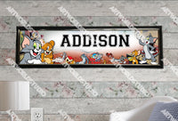 Personalized/Customized Tom and Jerry Poster, Border Mat and Frame Options Banner 199