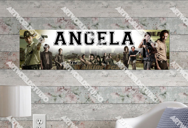 Personalized/Customized The Walking Dead Poster, Border Mat and Frame Options Banner 213