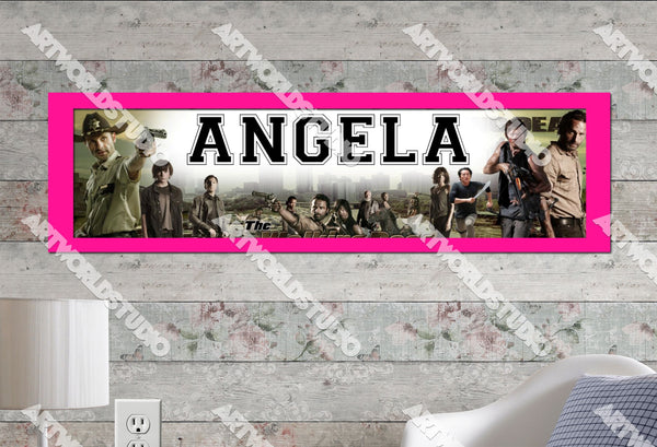 Personalizedcustomized The Walking Dead Poster Border Mat And