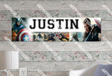 Personalized/Customized Captain America Poster, Border Mat and Frame Options Banner 214
