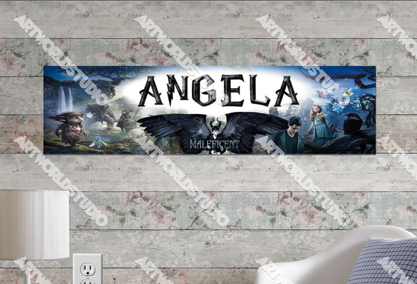 Personalized/Customized Maleficent Movie Poster, Border Mat and Frame Options Banner 216