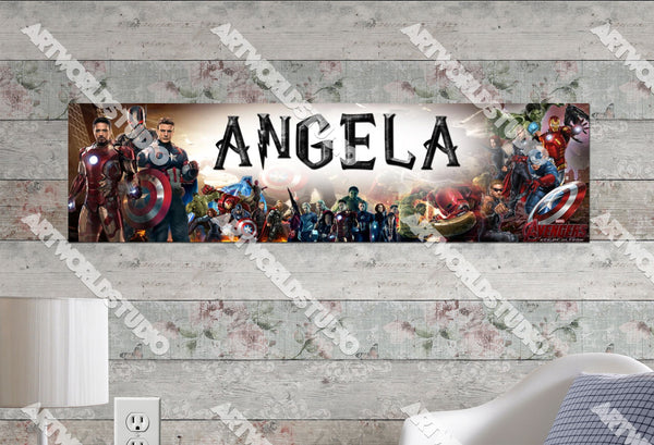 Personalized/Customized Avengers: Age of Ultron Poster, Border Mat and Frame Options Banner 218