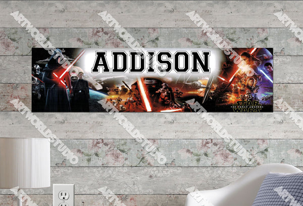 Personalized/Customized Star Wars: The Force Awakens Movie Poster, Border Mat and Frame Options Banner 220