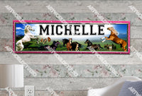 Personalized/Customized Horses Poster, Border Mat and Frame Options Banner 303