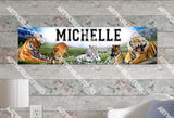 Personalized/Customized Tiger Poster, Border Mat and Frame Options Banner 306