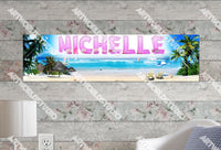 Personalized/Customized Beach Scene Poster, Border Mat and Frame Options Banner 318