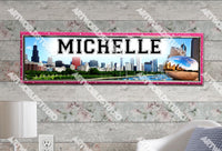 Personalized/Customized Chicago City Scene Poster, Border Mat and Frame Options Banner 320