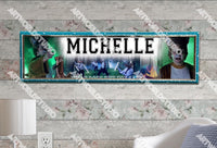 Personalized/Customized What Does The Fox Say Poster, Border Mat and Frame Options Banner 323