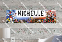 Personalized/Customized Power Rangers #2 Poster, Border Mat and Frame Options Banner 324-2