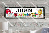 Personalized/Customized M&M Candy Poster, Border Mat and Frame Options Banner 326