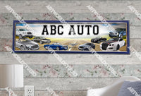 Personalized/Customized Bentley Cars Poster, Border Mat and Frame Options Banner 334