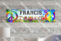 Personalized/Customized Peace Signs Poster, Border Mat and Frame Options Banner 336