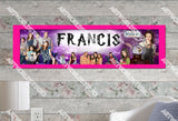 Personalized/Customized Wizards of Waverly Place Poster, Border Mat and Frame Options Banner 337
