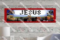 Personalized/Customized Trucks Poster, Border Mat and Frame Options Banner 339