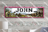 Personalized/Customized US Army Poster, Border Mat and Frame Options Banner 340