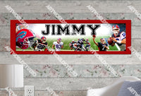 Personalized/Customized Buffalo Bills Poster, Border Mat and Frame Options Banner 402