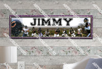 Personalized/Customized Chicago Bears #2 Poster, Border Mat and Frame Options Banner 403-2