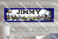 Personalized/Customized Dallas Cowboys Poster, Border Mat and Frame Options Banner 404