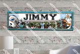Personalized/Customized Miami Dolphins #2 Poster, Border Mat and Frame Options Banner 405-2