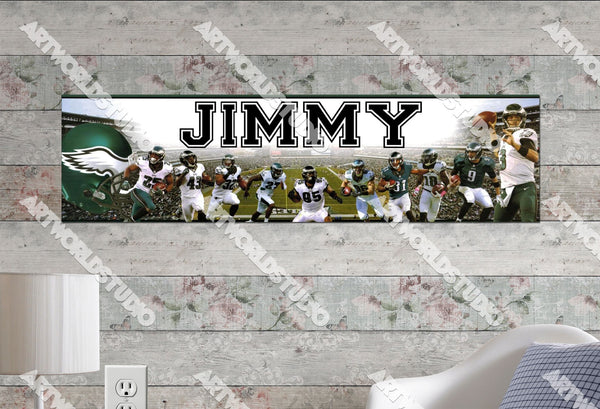 Personalized/Customized Philadelphia Eagles #2 Poster, Border Mat and Frame Options Banner 406-2