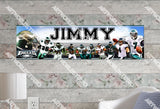 Personalized/Customized Philadelphia Eagles #1 Poster, Border Mat and Frame Options Banner 406