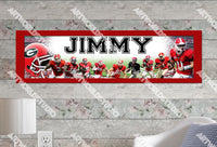 Personalized/Customized Georgia Bulldogs Poster, Border Mat and Frame Options Banner 408