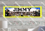 Personalized/Customized New Orleans Saints Poster, Border Mat and Frame Options Banner 411