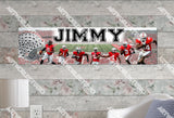 Personalized/Customized Ohio State Buckeyes Poster, Border Mat and Frame Options Banner 413