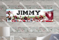Personalized/Customized Oklahoma Sooners Poster, Border Mat and Frame Options Banner 414