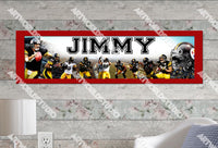 Personalized/Customized Pittsburgh Steelers #1 Poster, Border Mat and Frame Options Banner 415