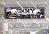Personalized/Customized San Diego Chargers Poster, Border Mat and Frame Options Banner 416