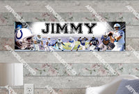 Personalized/Customized Indianapolis Colts Poster, Border Mat and Frame Options Banner 418