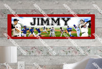 Personalized/Customized Chicago Cubs Poster, Border Mat and Frame Options Banner 422