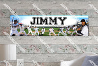 Personalized/Customized Detroit Tigers Poster, Border Mat and Frame Options Banner 423