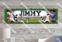 Personalized/Customized New York NY Mets Poster, Border Mat and Frame Options Banner 425