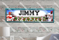 Personalized/Customized St. Louis Cardinals #1 Poster, Border Mat and Frame Options Banner 427