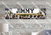 Personalized/Customized New York NY Yankees #2 Poster, Border Mat and Frame Options Banner 428-2