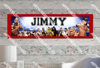 Personalized/Customized WWE Wrestling Poster, Border Mat and Frame Options Banner 429