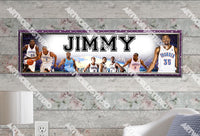 Personalized/Customized OKC Thunder Poster, Border Mat and Frame Options Banner 433