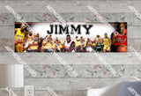 Personalized/Customized NBA Superstars #1 Poster, Border Mat and Frame Options Banner 434