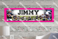 Personalized/Customized New England Patriots Poster, Border Mat and Frame Options Banner 440