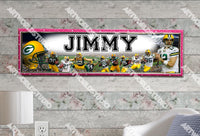Personalized/Customized Green Bay Packers #1 Poster, Border Mat and Frame Options Banner 442