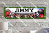 Personalized/Customized Tampa Bay Buccaneers Poster, Border Mat and Frame Options Banner 444
