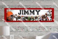 Personalized/Customized Cleveland Browns Poster, Border Mat and Frame Options Banner 458