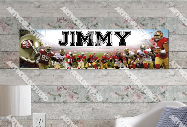 Personalized/Customized San Francisco 49ers Poster, Border Mat and Frame Options Banner 461