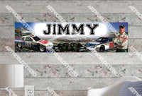 Personalized/Customized Nascar Dale Poster, Border Mat and Frame Options Banner 462